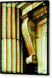 Archatectural Elements  Digital Paint Acrylic Print by Debbie Portwood