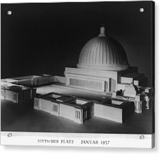 Architectural Model Of Berlin Acrylic Print by Everett