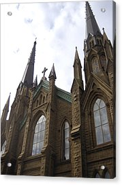 architecture churches Gothic Spires Acrylic Print by Ann Powell