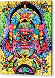Arcturian Ascension Grid Acrylic Print by Teal Eye  Print Store