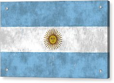 Argentina Flag Acrylic Print by World Art Prints And Designs