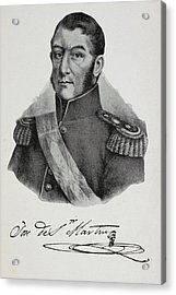 Argentinian Soldier In Military Uniform Acrylic Print by British Library
