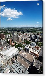Arial View Of Calgary Facing North East Acrylic Print by Lisa Knechtel