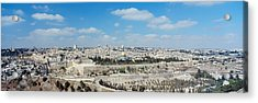 Ariel View Of The Western Wall Acrylic Print by Panoramic Images