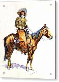 Arizona Cowboy Acrylic Print by Frederic Remington