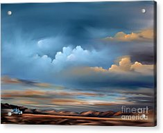 Landscapes Acrylic Print featuring the painting Arizona Skies by Susi Galloway