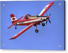 Arkansas Razorbacks Air Tractor Acrylic Print by Jason Politte