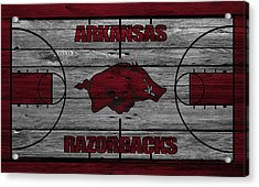 Arkansas Razorbacks Acrylic Print by Joe Hamilton