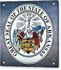 Arkansas State Seal Acrylic Print by Movie Poster Prints
