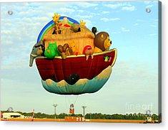 Arky Hot Air Balloon Acrylic Print by Kathy  White