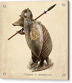 Armadillo Acrylic Print by Eric Fan
