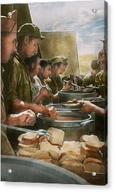 Army - Another Potato Please Acrylic Print by Mike Savad
