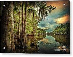 Around The Bend On Caddo Lake Acrylic Print by Tamyra Ayles