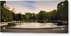 Around The Central Park Pond Acrylic Print by Madeline Ellis