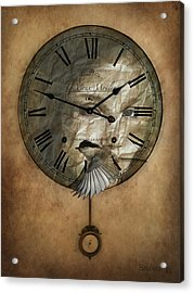 Around The Clock-time Is Flying Acrylic Print by Barbara Orenya