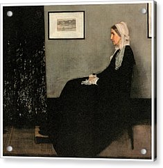 Arrangement In Grey And Black No 1 Acrylic Print by James Abbott McNeill Whistler