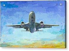 Arrivals #5 Acrylic Print by David Palmer
