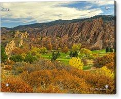 Arrowhead Autumn Color Acrylic Print by Jim Bennett