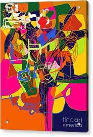 Art And Writing 2 Acrylic Print by David Baruch Wolk