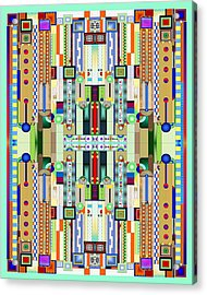 Art Deco Stained Glass 2 Acrylic Print by Ellen Henneke