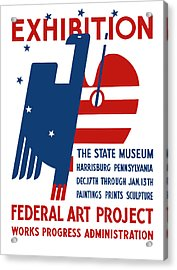 Art Exhibition The State Museum Harrisburg Pennsylvania Acrylic Print by War Is Hell Store