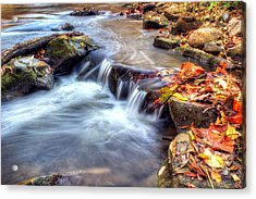 Art For Crohn's Hdr Fall Creek Acrylic Print by Tim Buisman