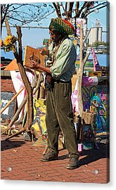 Art Is A Thing Acrylic Print by Suzanne Gaff