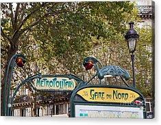 Art Nouveau Metropolitain Sign Acrylic Print by Liz Leyden