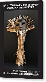 Art Therapy Directive Archetype Mask Acrylic Print by Anne Cameron Cutri