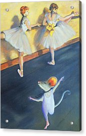 Artemouse With Dancers At The Barre Acrylic Print by Debbie Patrick