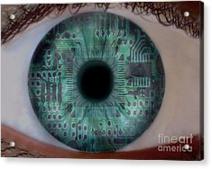 Artificial Intelligence Acrylic Print by Mike Agliolo