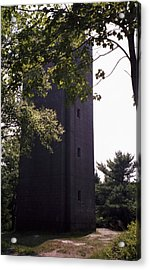 Artillery Spotting Tower Acrylic Print by David Fiske