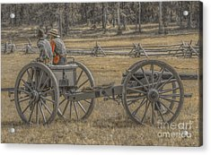 Artillery To The Front Acrylic Print by Randy Steele