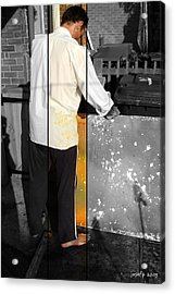 Artist At Work Part Two Acrylic Print by Sir Josef Social Critic - ART