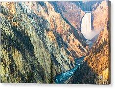 Artist Point - Yellowstone Park Horizontal Acrylic Print by Andres Leon