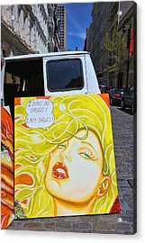Artist With Attitude Acrylic Print by Allen Beatty