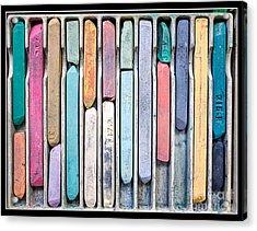 Artists Chalks Acrylic Print by Edward Fielding