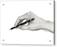 Artist's Hand Acrylic Print by Sarah Batalka
