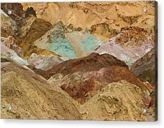 Artist's Paint Palette Abstract Acrylic Print by Heidi Smith