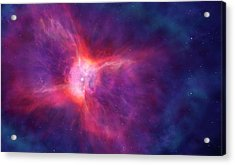 Artwork Of A Bipolar Planetary Nebula Acrylic Print by Mark Garlick