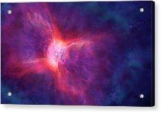 Artwork Of A Bipolar Planetary Nebula Acrylic Print by Mark Garlick