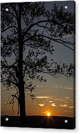 As The Sun Fades Behind The Mountian Acrylic Print by Karol Livote