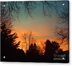 As The Sun Goes Down Acrylic Print by Ann Johndro-Collins