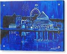 Asbury Park's Night Memories Acrylic Print by Patricia Arroyo