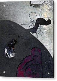 Ashbridges Bay Skate Park Acrylic Print by Brian Carson