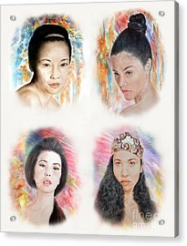 Asian Beauties  Acrylic Print by Jim Fitzpatrick