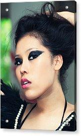 Asian Beauty Acrylic Print by Fototrav Print