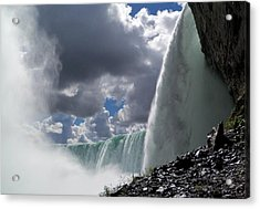 Aside Horseshoe Falls Acrylic Print by Katie Beougher