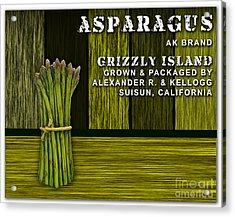 Asparagus Farm Acrylic Print by Marvin Blaine