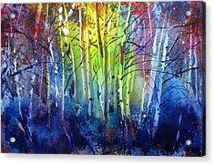 Aspen Grove Acrylic Print by Kris Parins